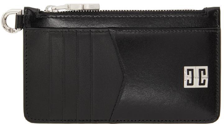 Givenchy Black 4G Zipped Card Holder