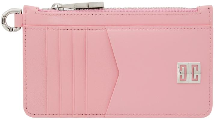 Givenchy Pink 4G Zipped Card Holder