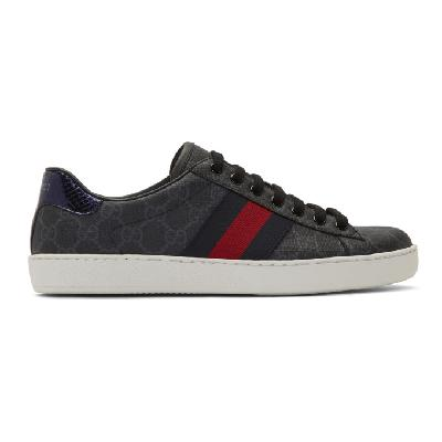 Gucci Black GG Supreme Ace Sneakers