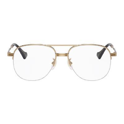 Gucci Gold Aviator Glasses
