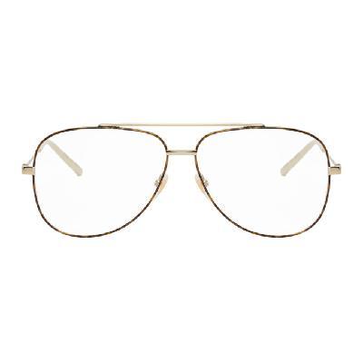 Gucci Gold & Tortoiseshell Aviator Glasses