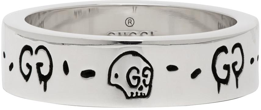 Gucci Silver G Ghost Ring