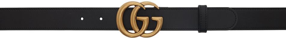 Gucci Black GG Marmont Belt