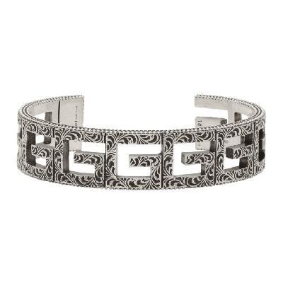 Gucci Silver Square G Cuff Bracelet