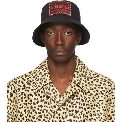 Gucci Black 'Whatever The Season' Bucket Hat