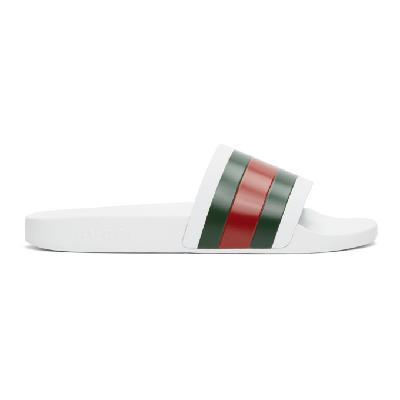 Gucci White Pursuit slides
