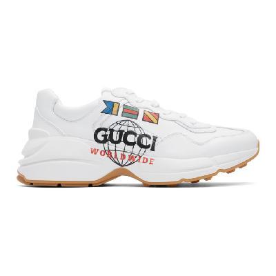 Gucci White 'Gucci Worldwide' Rhyton Sneakers