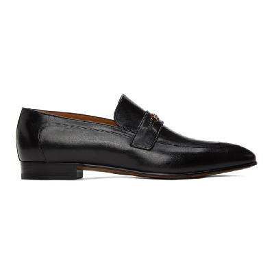 Gucci Black Horsebit Dracma Loafers