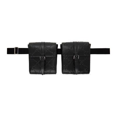 Gucci Black GG Tennis Belt Bag