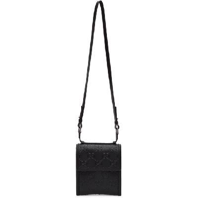 Gucci Black GG Tennis Messenger Bag