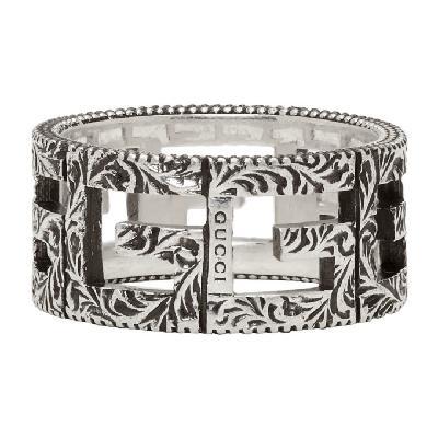 Gucci Silver Square G Ring