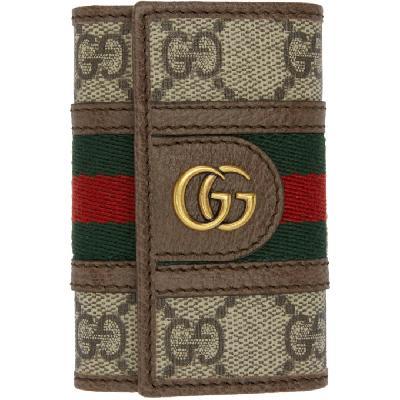 Gucci Beige Ophidia Key Holder Wallet