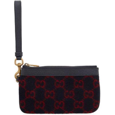 Gucci Navy Wool GG Wallet