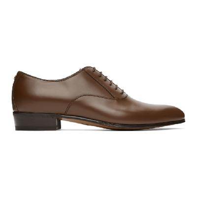 Gucci Brown Double G Oxfords