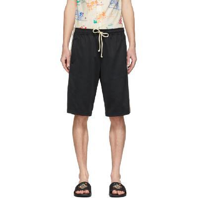 Gucci Black Technical Jersey GG Shorts
