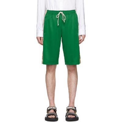 Gucci Green Jersey GG Ribbon Shorts