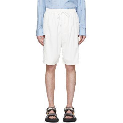 Gucci Off-White Canvas Swim Shorts
