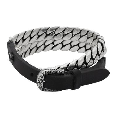 Gucci Black & Silver 'Gucci Garden' Bracelet