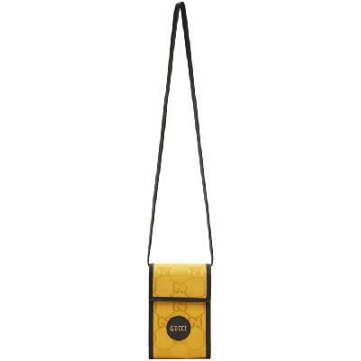 Gucci Black & Yellow Mini 'Off The Grid' GG Messenger Bag