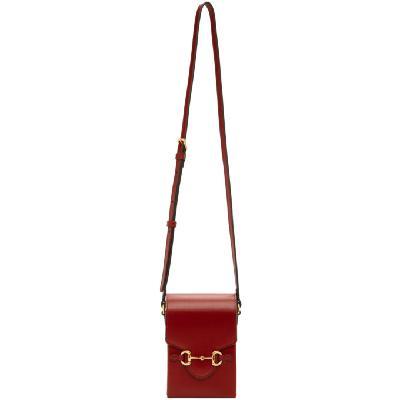 Gucci Burgundy Mini 'Gucci 1955' Horsebit Pouch