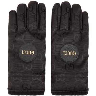 Gucci Black GG Monogram Gloves