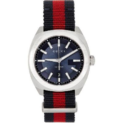Gucci Silver & Blue GG2570 Watch