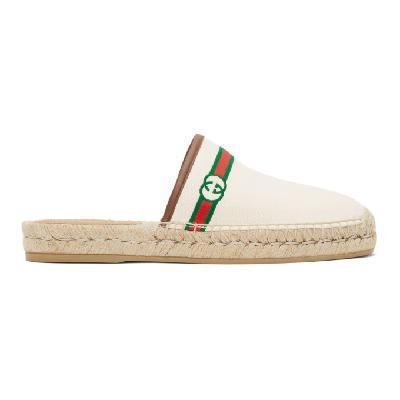 Gucci Off-White Interlocking G Slip-On Espadrilles