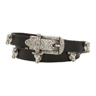 Gucci Black & Silver Buckle Bracelet