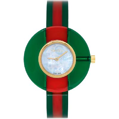 Gucci Red & Green Vintage Web Watch