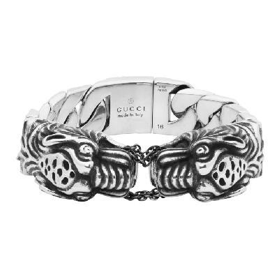 Gucci Silver Vintage Tiger Bracelet