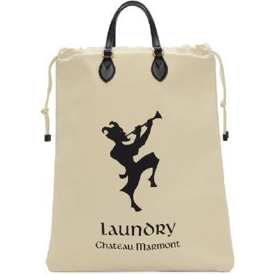 Gucci White 'Chateau Marmont' Laundry Tote