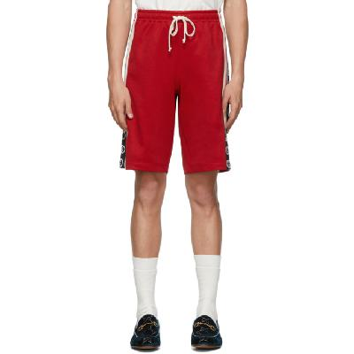 Gucci Red Jersey GG Ribbon Shorts