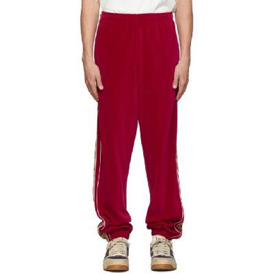 Gucci Red GG Stripe Lounge Pants
