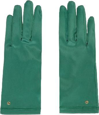 Gucci Green Satin Gloves