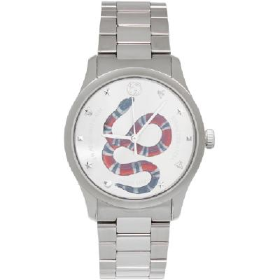 Gucci Silver G-Timeless Snake Watch