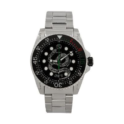 Gucci Silver Dive Snake Watch