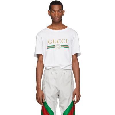 Gucci White Oversized Logo T-Shirt