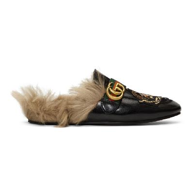 Gucci Black Angry Cat New Princetown Loafers