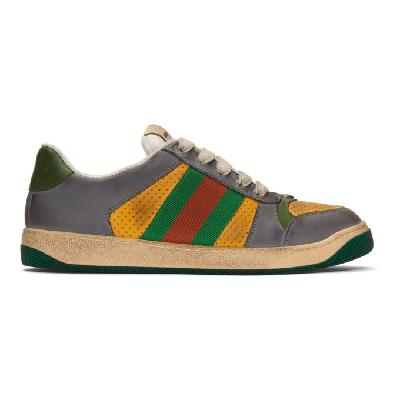 Gucci Yellow & Grey Screener Sneakers