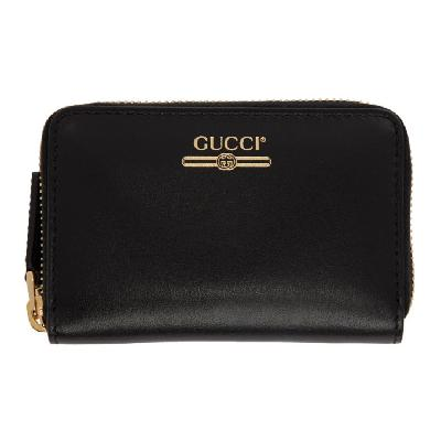 Gucci Black Zip Card Case Wallet