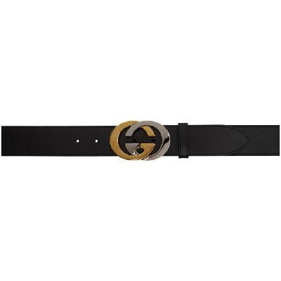Gucci Black GG Plutone Belt