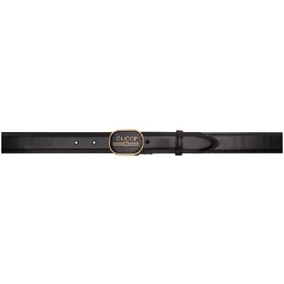 Gucci Black GG Print Belt