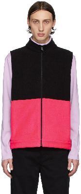 Harris Wharf London Black & Pink Polaire Vest