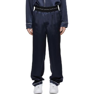 Helmut Lang Navy Pajama Lounge Pants