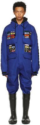Hood by Air Blue Veteran Boiler Jumpsuit