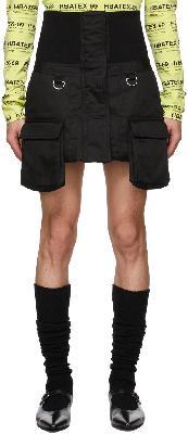 Hood by Air Black Cargo Skirt