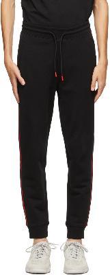 Hugo Black & Red Stripe Logo Sweatpants