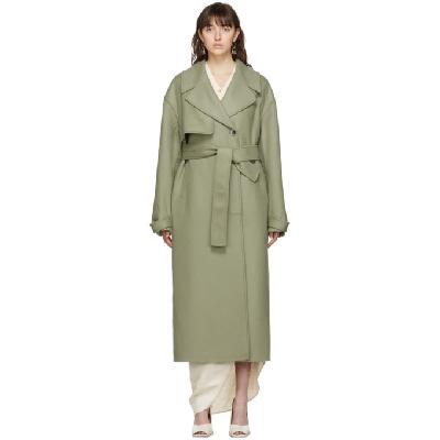 Jacquemus Green Le Manteau Sabe Coat