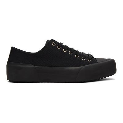 Jil Sander Black Canvas Sneakers