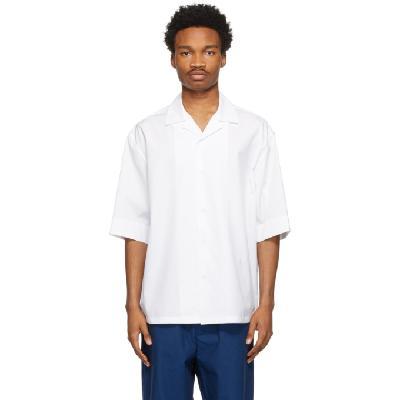 Jil Sander White Organic Cotton Pyjama Short Sleeve Shirt